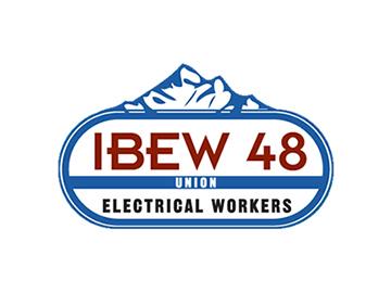 International Brotherhood of Electrical Workers Union Local 48 logo