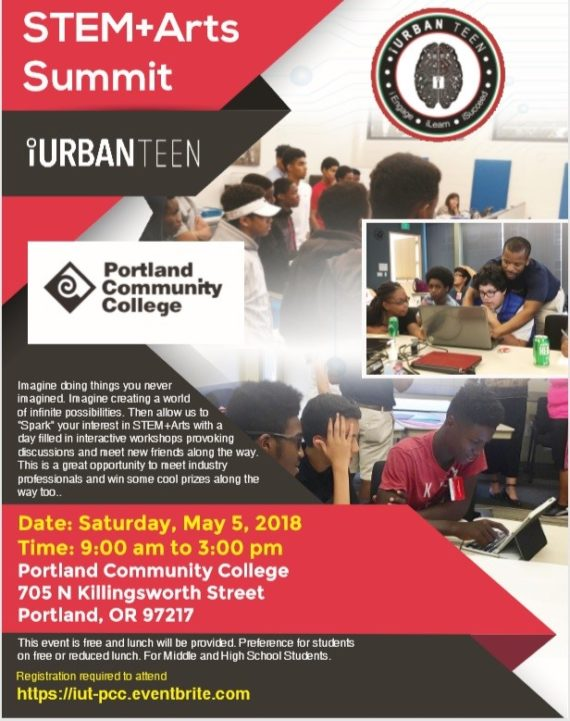 2018 iUrban Teen STEM + Arts summit at Portland Community College