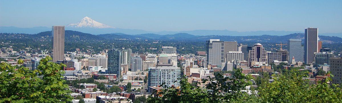 Portland Oregon and Mt. Hood